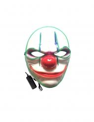 Lyxig LED-mask clown vuxen