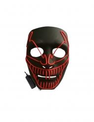Lyxig LED-mask ond clown vuxen