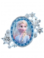 Frost 2™ dubbelsidig aluminiumballong Elsa och Anna 76x66
