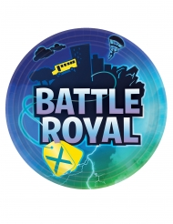 8 Papptallrikar battle royale 23 cm