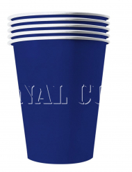 20 blå amerikanska pappmuggar återvinningsbara 53 cl