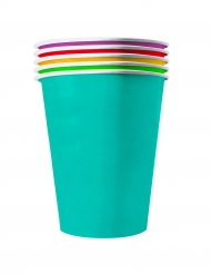20 Amerikanska återvinningsbara pappmuggar i somriga färger 53 cl