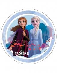 Frost 2™ tårtlock med snölandskap 21 cm