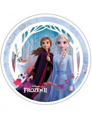 Frost 2™ tårtlock med Anna Elsa och Olof 21 cm