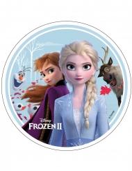 Frost 2™ Tårtlock med Anna, Elsa, Olof och Sven 21 cm