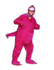 Snäll rosa dinosauriedräkt vuxen
