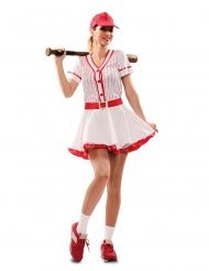 Baseballspelaren Barbara damdräkt
