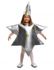 Silvrig stjärndräkt barn
