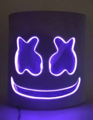 Lila LED-marschmallow mask
