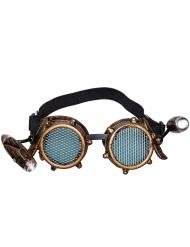 Steampunkglasögon med sidoljus vuxen