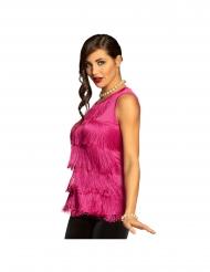 Violett linne med fransar dam
