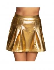 Guldfärgad discokjol dam