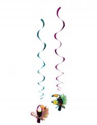 2 Spiralhängen med tukaner 85 cm