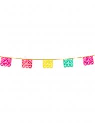 Mexikansk färgglad plastgirlang 14,5x16x600 cm