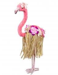 Rosa flamingodekoration med ben 35x16 cm