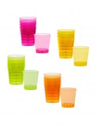 20 Färgglada shotglas av plast