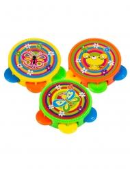 Piñata-tillbehör 3 tamburiner 4,5 cm