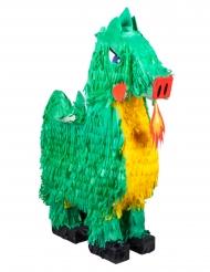 Grön drak-piñata 49x47 cm