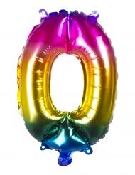 Färgglad aluminiumballong siffra 36 cm