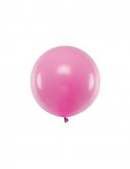 Stor rosalila latexballong 60 cm