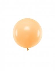 Persikofärgad latexballong 60 cm