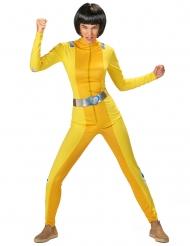 Häftig gul spiondräkt dam
