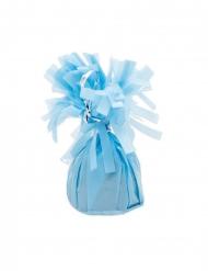 6 Ballongvikter med blå fransar