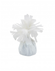 6 Ballongvikter med vita fransar