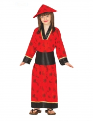 Röd kimonodräkt barn