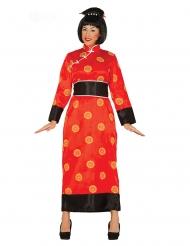 Röd kinesisk klänning dam