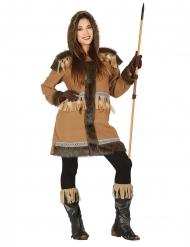 Brun inuit damdräkt