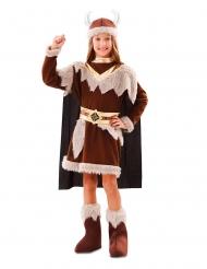 Brun vikingadräkt flicka
