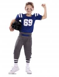 Blå amerikansk fotbollsdräkt barn