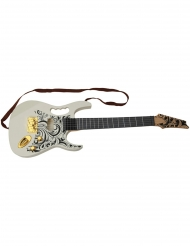 Vit leksaksgitarr 67 cm
