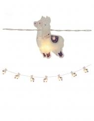 girlang med 10 LED-lamadjur 165 cm