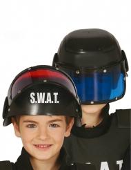 SWAT polishjälm med visir barn
