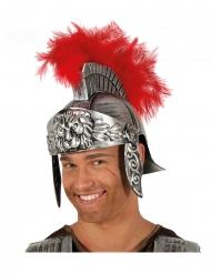 Centurionhjälm med röd plym vuxen