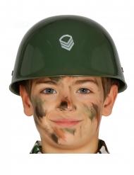 Grön militärhjälm barn