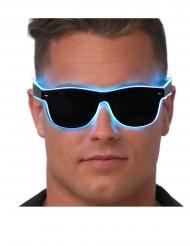 Mörka glasögon med blått ljus