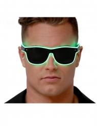 Mörka glasögon med grönt ljus vuxen
