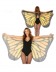Orange fjärilsvingar 170x80 cm vuxen