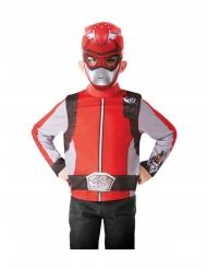 Power Rangers™ röd tröja med mask barn