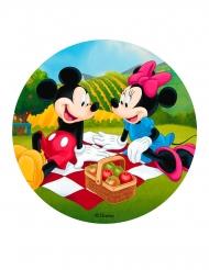 Musse och Mimmi™ picknick tårtlock av sträkelse 20 cm