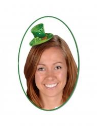 Grön mimi-hatt med paljetter dam