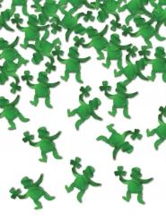 Grön bordskonfetti leprechaun 42 g