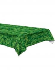 Grön bordsduk med klövermönster 137x274 cm