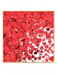 Hjärtformad röd bordskonfetti 14 gram