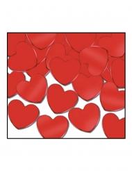 Bordskonfetti röda hjärtan 28 gram