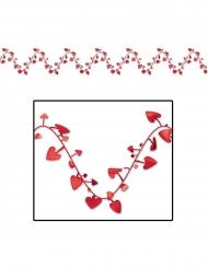 Plastgirlang med röda hjärtan 7 m