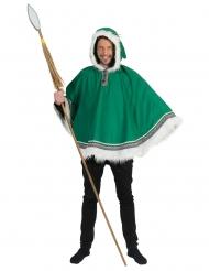 Grön arktisponcho herr